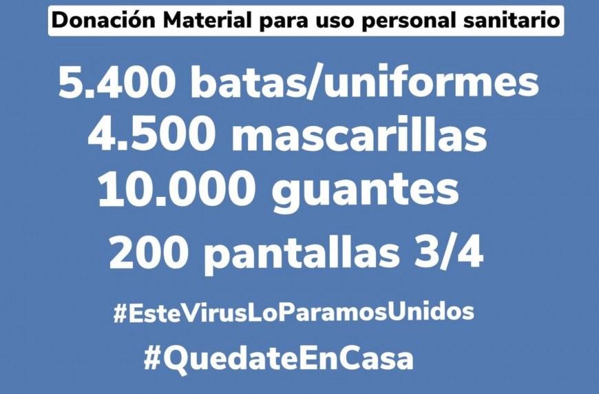 DONACIÓ MATERIAL SANITARI