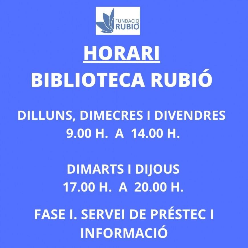 12.05.2020 OBRIM LA BIBLIOTECA RUBIÓ